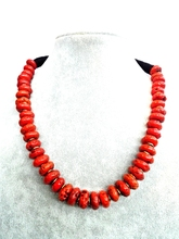 Wedding Woman Jewelry Choker Necklace Hot Sale 14mm Natural Red Coral Bead Exaggerate Handmade Charm