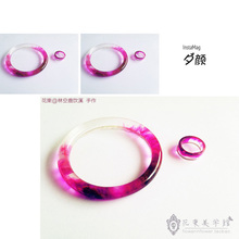 Flower Invitation Bangle Mold MD88_Handmade Mold Transparent Silicone Round Bracelet Mould For Resin Real Flower DIY Mold