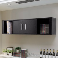 Giantex Wall Mounted Floating Desk Hutch Wall Shelf Cabinet Storage Shelves 2 Door Home Furniture HW59053