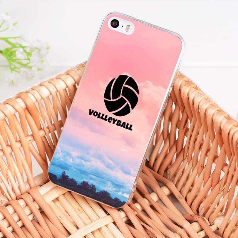 MaiYaCa voleibol deportes accesorios del teléfono caso para Apple iphone 11 pro 8 7 66S Plus X 5S SE XR XS fundas de móvil XS MAX
