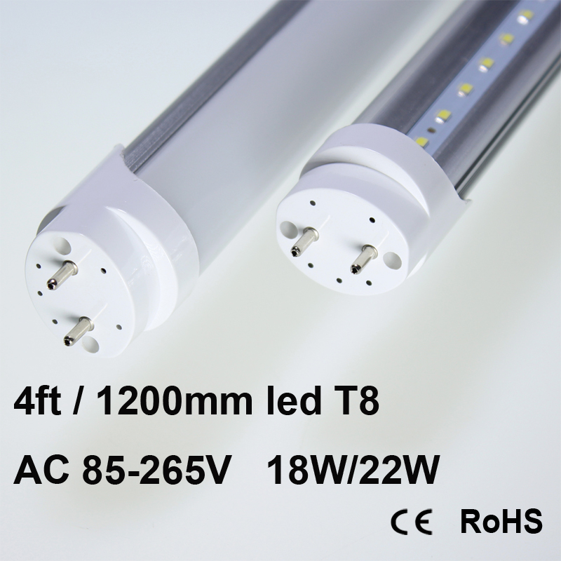 4FT T8 T10 Two Rows LED chips LED Tube Lamps 80w Fluorescent Replacement 48 1200mm SMD Energy Saving Light Fixture Daylight