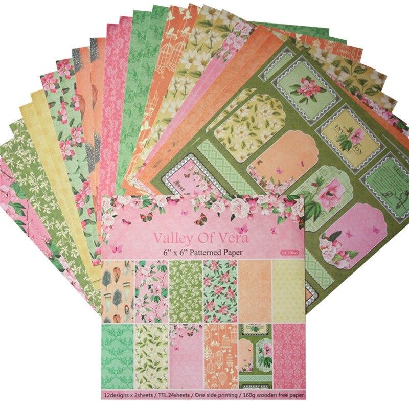 card making scrapbook paper craftfashion 24 sheets flower