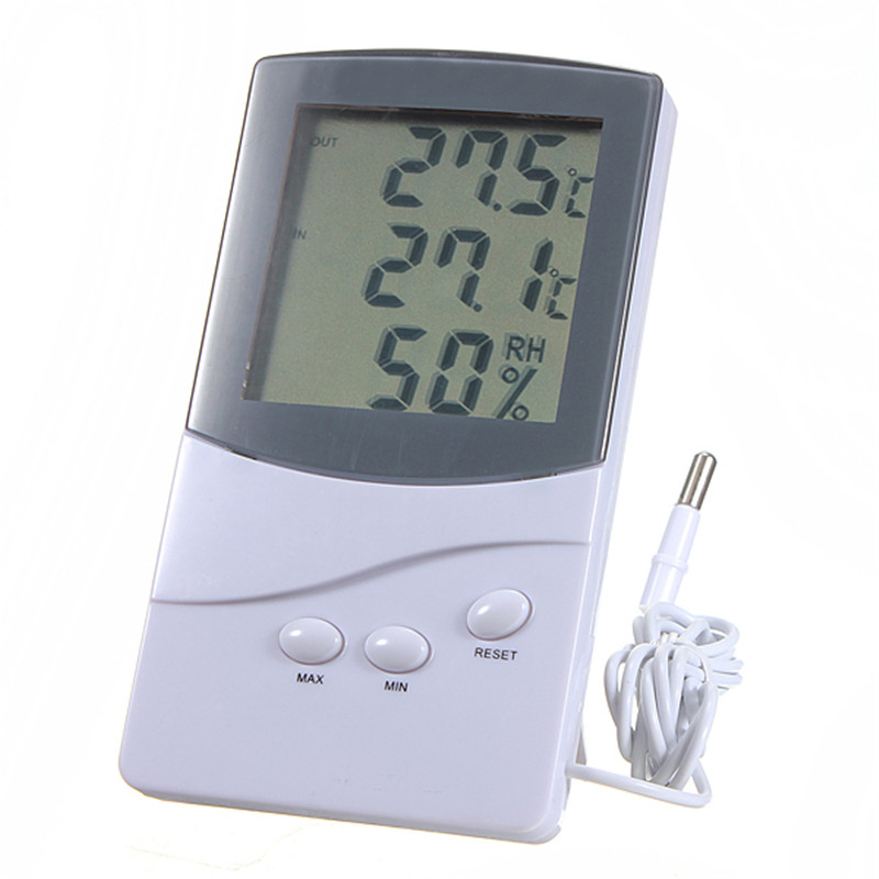ZEAST Thermometer Hygrometer Digital LCD Indoor Outdoor 1.5m Cable Probe Temperature Humidity Meter -50 to 70 C dc12v 24v digital meter 20 100 degrees celsius thermometer dual display temperature meter for car water air indoor outdoor etc