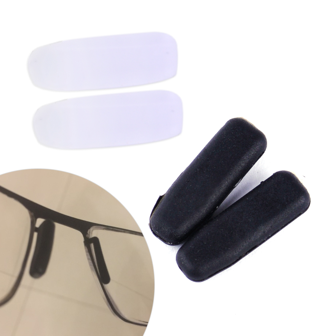 LETAOSK Two Pairs Black And White Silicone Replacement Nose Pads Health Care Kit Fit For IC! Berlin Sunglasses Parts Accessories