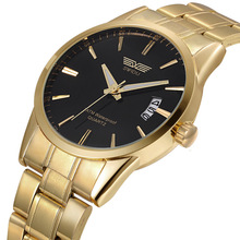 Fashion Gold Watch Men Top Brand Luxury Quartz Watch Gift For Man Casual Stainless Steel Wristwatch Male Waterproof Sports Watch chenxi brand fashion luxury watch men casual stainless steel gold gift clock quartz male wristwatch relogios masculinos famosas