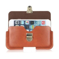 PU Leather Belt Clip Pouch Cover Case for BLU Energy XL/Neo XL/Pure XL 6 Inch