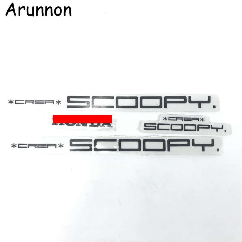 Arunnon Pedal Motorcycle Accessories Entire Car Decal Label Applique SCOOPY LOGO FOR HONDA DIO AF55