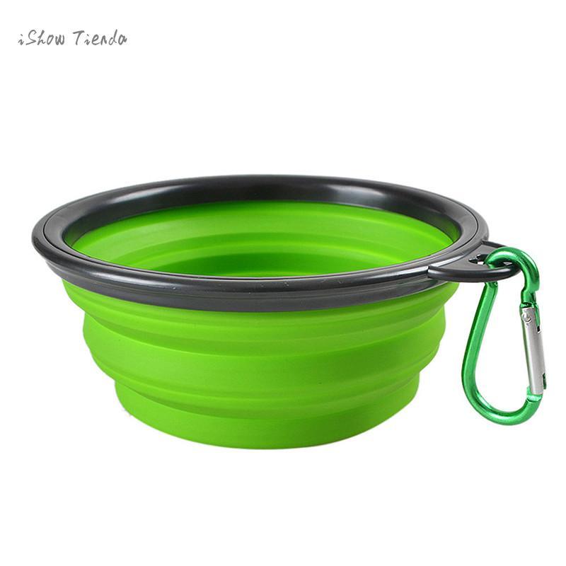 Ishowtienda Portable Foldable Dog Bowl Collapsible Pet Cat Dog Food Feeding Bowl Water Feeding Travel Bowl For Small Pet Dog Cat #6