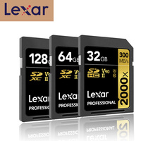 Original Lexar SD Flash Memory Card Limited Pen Drive 2000x 300mb/s SDHC/SDXC UHS II Class 10 cards For 3d 4k Digital Slr Camera