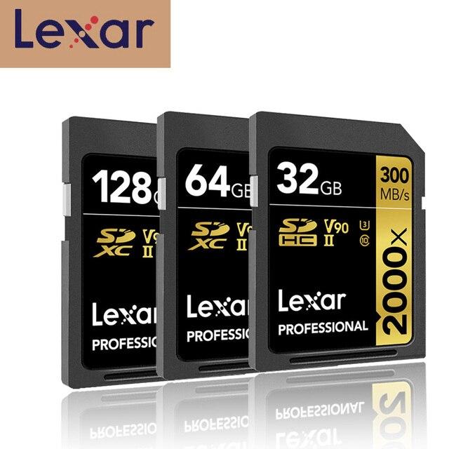 Ursprüngliche Lexar SD Speicher Karte Begrenzte Stift Stick 2000x300 mb/s SDHC/SDXC UHS II Klasse 10 karten Für 3d 4k Digital Slr Kamera