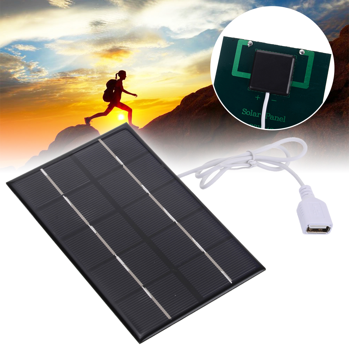 1 pces 5 w 5 v usb painel solar carregador portatil usb2 0 paineis solares para
