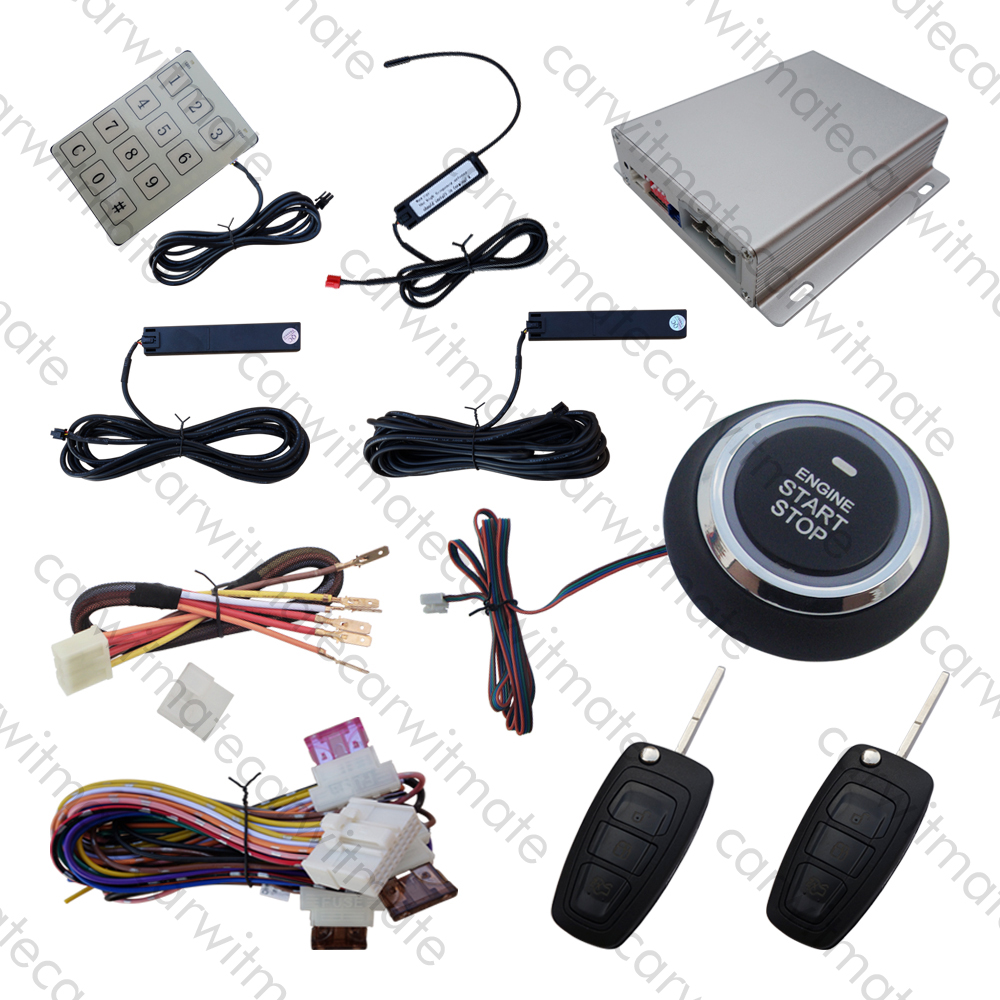PKE Car Alarm Push Button Start Stop Remote Engine Start Touch Password Keyless Entry Flip Key Blades For FORD FOCUS, MONDEO Car pke smart car alarm system is with passive auto lock or unlock car door keyless go push button start stop remote start stop