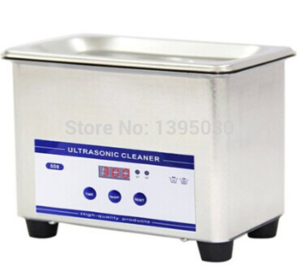 1PC JP-008 Digital Ultrasonic Cleaning Transducer Basket Jewelry Watches Dental 0.8L 40kHz Mini Ultrasonic Cleaner 110/220V