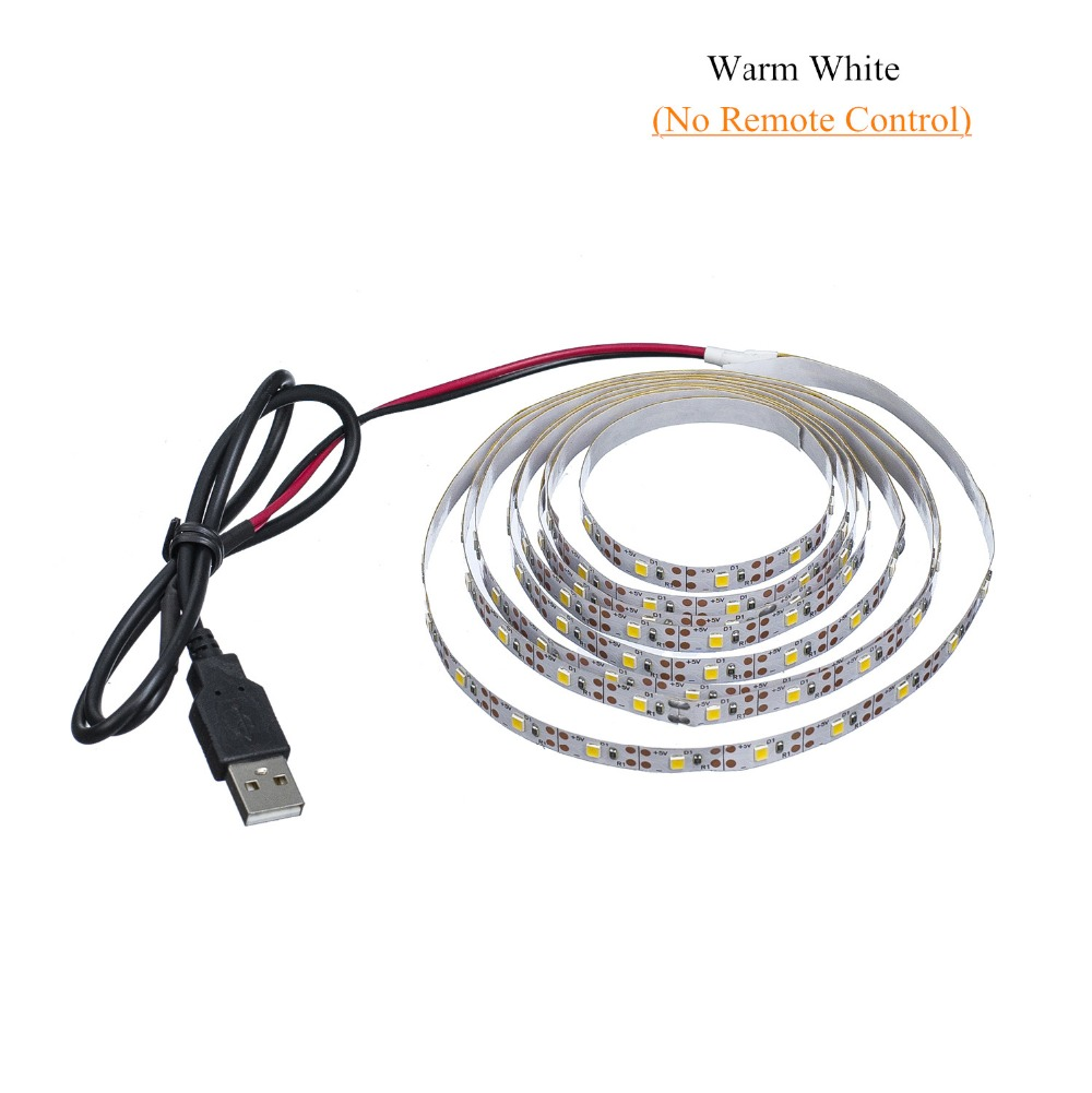 HTB1gTJaMQvoK1RjSZFwq6AiCFXaL LED Strip Light USB 2835SMD DC5V Flexible LED Lamp Tape Ribbon RGB 0.5M 1M 2M 3M 4M 5M TV Desktop Screen BackLight Diode Tape