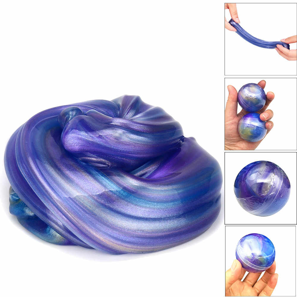 Squish Slime Fluffy Foam Scented Magic Plasticine Slimes Anti Stress Relief Sludge Kid Clay Soft Toy Slime Antistress Ball FE05d