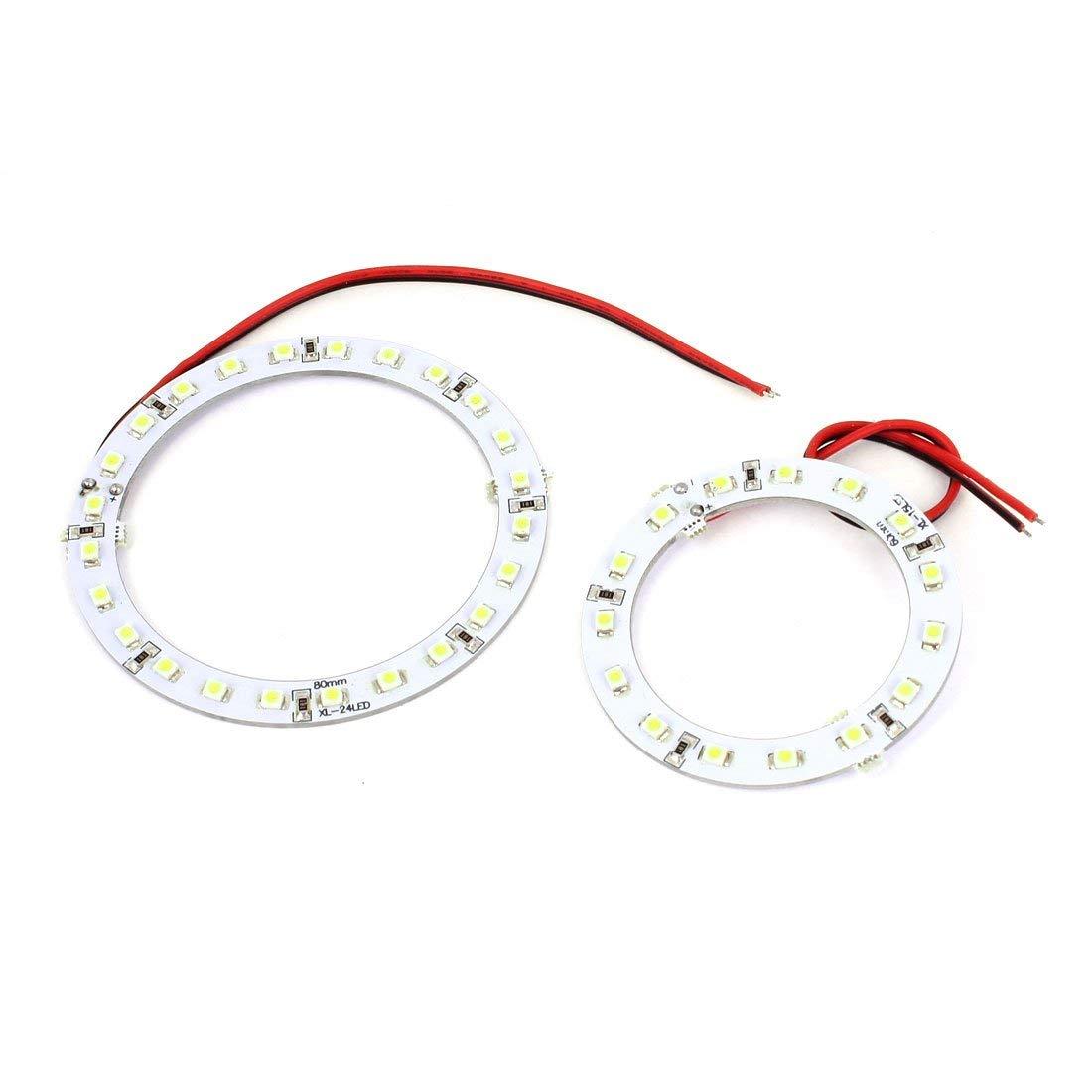 2 X 60mm 80mm Led Angel Eye Halo Ring White In Car