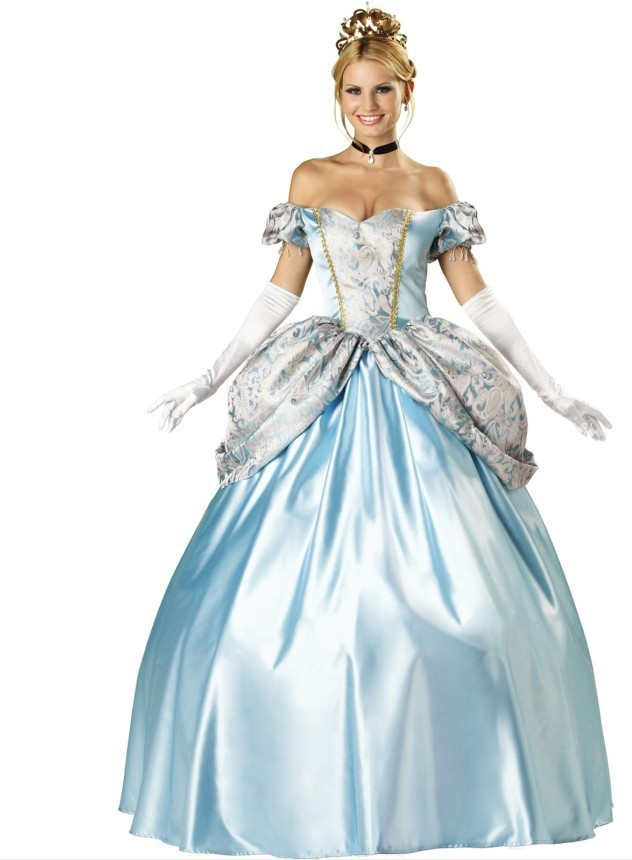 Ensen Noble European palace adults long sissy queen dress costumes Halloween snow white princess cosplay costumes