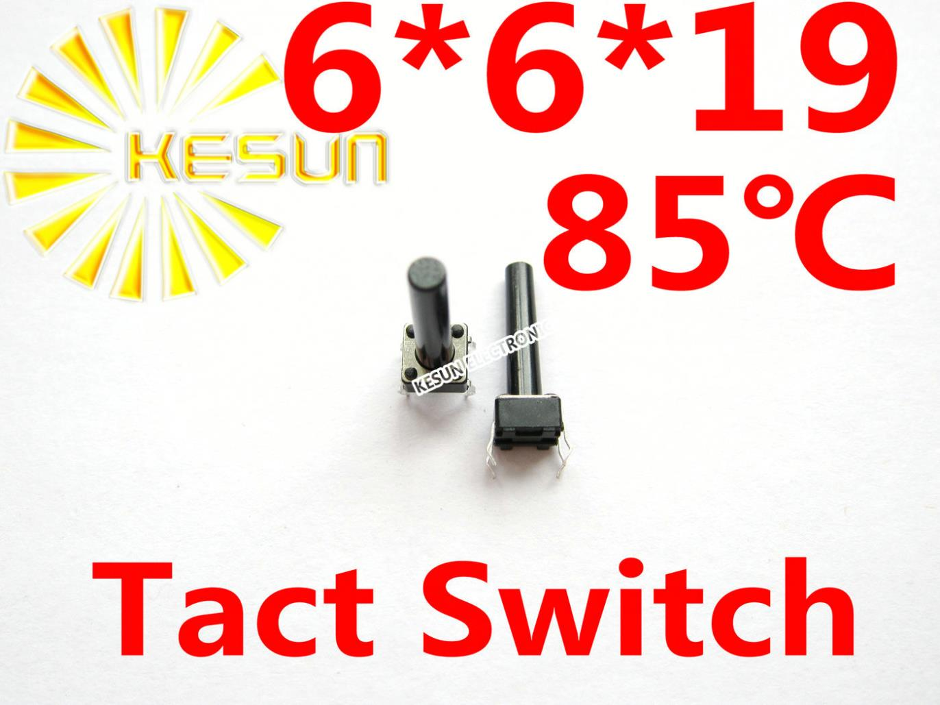 1000PCS DIP 6X6X19 Tactile Tact Push Button Micro Switch Momentary