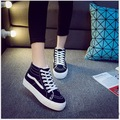 2016 winter high-top canvas shoes women flat shoes casual shoes to keep warm Free shipping
