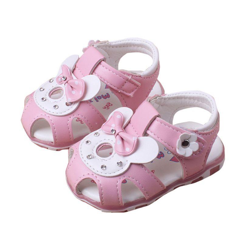 Toddler Baby Girls Sandal Floral Sole Kids Children Princess Sandals Shoes Newborn Baby Beach Sandal For 6-30M