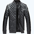 Осень мода мужские кожаная куртка мужчины уменьшают подходящую кожаная куртка высокое качество Большой размер свободной для мужчин 95