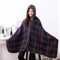 2016 New autumn winter Women Scarf Fashion Plaid Pashmina Big Square Shawl Soft Wraps sweater with hat hoodie 195cmX100cm rs003
