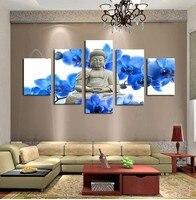 5 Painel de Buddha Zen Pintura Moderna Da Arte Da Lona Decoração Da Parede em Casa HD Impressão Pintura Da Parede Da Lona Imagem Para YH-028