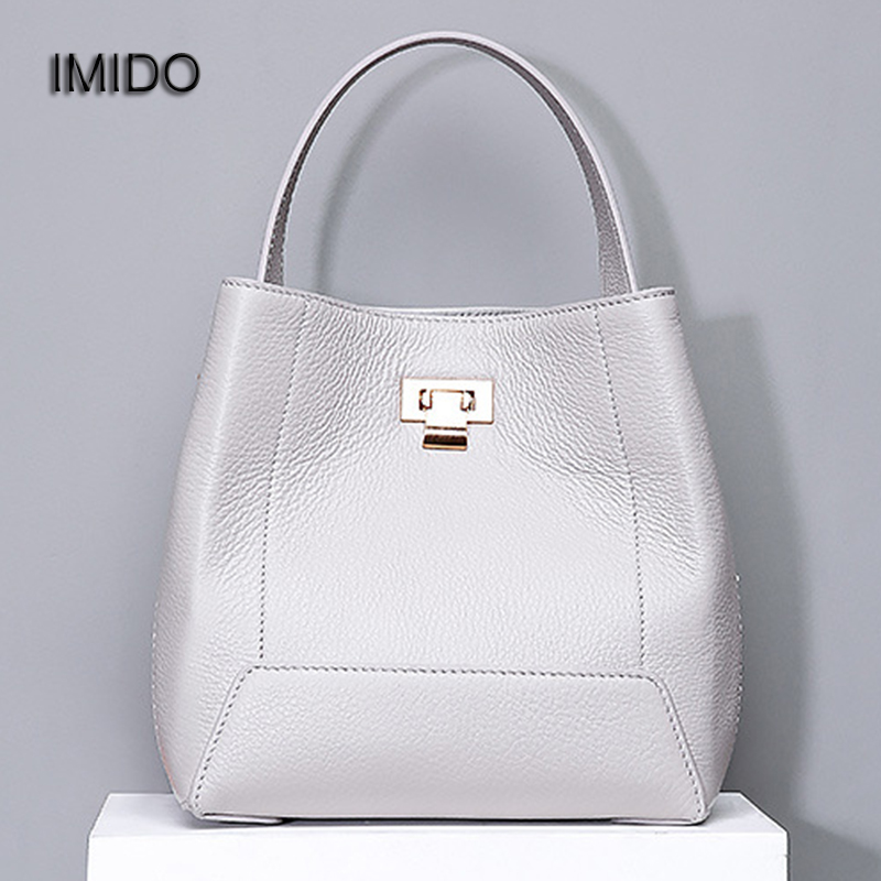 IMIDO Hot Designer Handbags genuine leather bags for women Tote Bag Crossbody Cowhide Shoulder Bags Red bolsa feminina HDG097 imido new fashion handbag pu leather bags women casual tote shoulder bag crossbody luxury brand bolsa feminina orange red hdg076