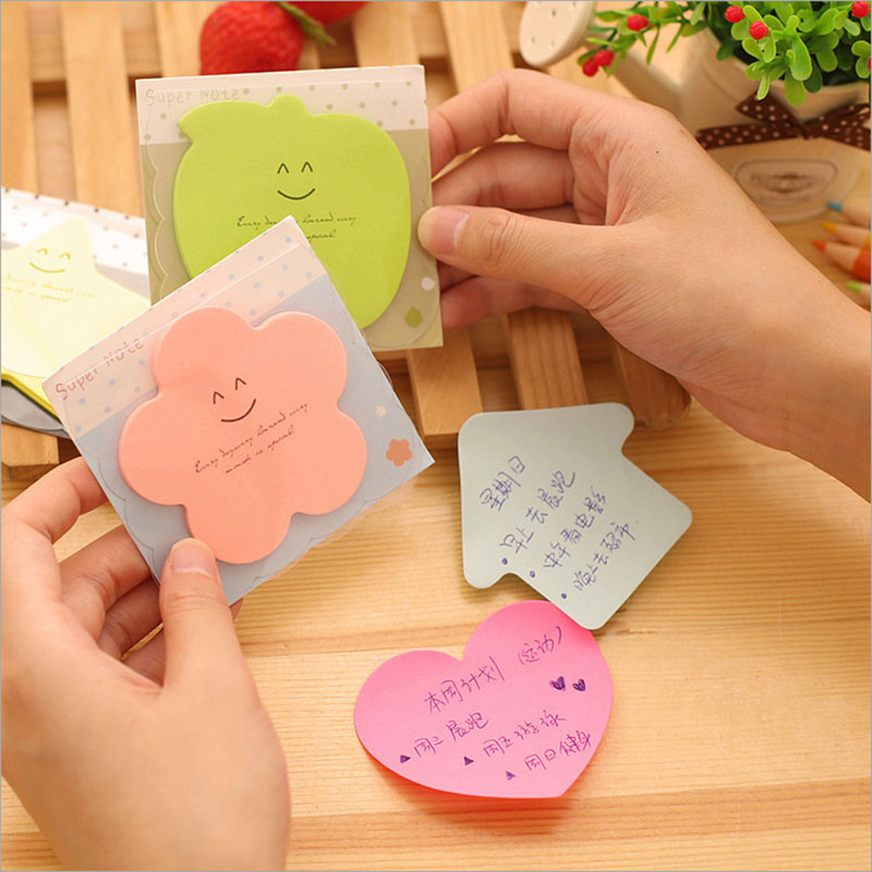 2pcs/lot Candy color Memo Pad Cute Kawaii Sticky Notes Post Planner Stickers Paper Bookmarks stationery learning Supplies