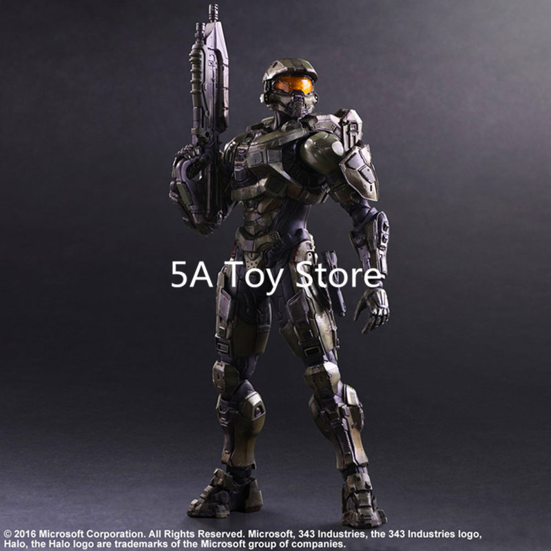 Play Arts KAI HALO 5 Guardians No.1 Master Chief PVC Action Figure Collectible Model Toy Retial Box 25CM