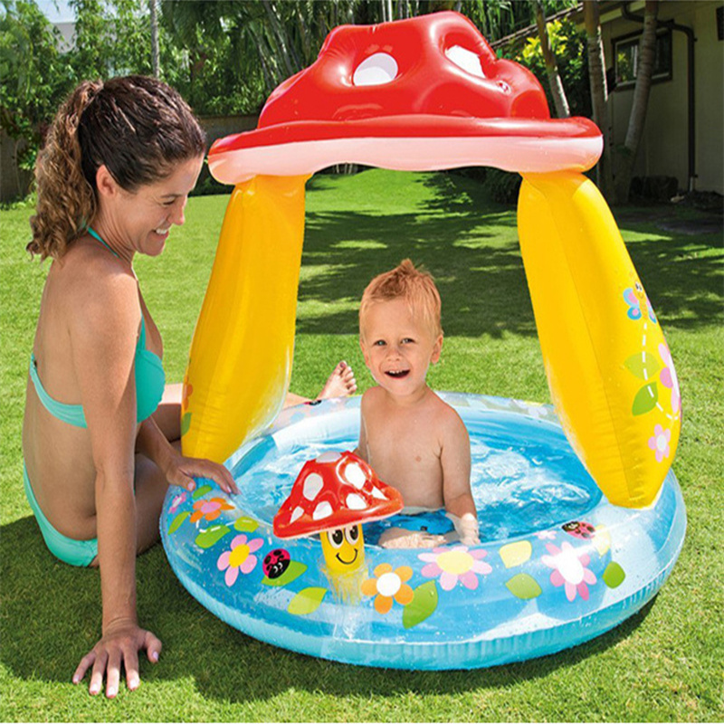 Environmental protection materials children inflatable swimming pool children's mushroom shape ocean pool outdoor game pool bestway fisher цена дети надувные ocean pool детские игрушки pool 91x25cm bobo pool 93501