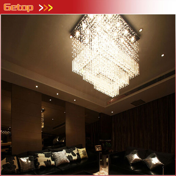 Best Price Modern K9 Crystal Chandelier with LED GU10 Bulbs Lighting Fixture for Hall lustres de cristal lustres e pendentes