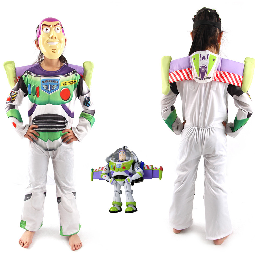 Halloween Costumes Toy Story Children Buzz Lightyear Costume Boy Buzz Role Play Costume Fancy Dress Cosplay Cloths with wings