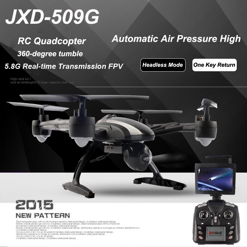 Original JXD 509G 5.8G FPV RC Quadcopter RTF 2.4Ghz with HD Camera Headless Mode One Key Return (JXD 509 FPV Version) jjr c jjrc h26wh wifi fpv rc drones with 2 0mp hd camera altitude hold headless one key return quadcopter rtf vs h502e x5c h11wh