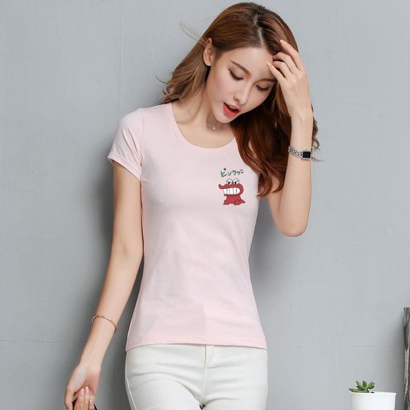 T Shirt Frauen Neue t-shirts frauen 2018 vogue Vintage t-shirts baumwolle frauen O Hals Kurzarm WLD1