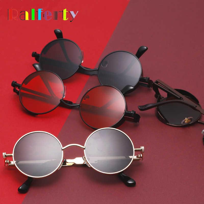 a4f4b1f4d8d7 Ralferty Gothic Steampunk Sunglasses Women Men Vintage Retro Round Metal Sun  Glasses UV400 Steam Punk Goggles