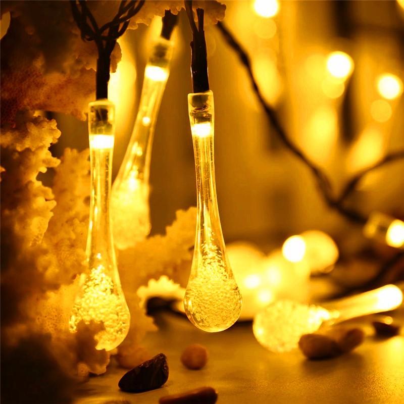 LED luces solar forma de gota  (8)