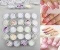 Polvo de acrílico de Acrílico Polvo Acrilico Color Nagels Poudre 24 Jar Color Glitter Nails Art Polímero Transparente Suministros Hermosa Pulver