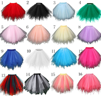 In Stock Multi Colored Short Petticoat Tulle Crinoline 2016 Hot Sale Underskirt For Girl Cheap Wedding