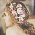 Romantic Lilac Flower Wedding Hair Vine Jewelry Pearl Handmade Bridal Comb Accessories