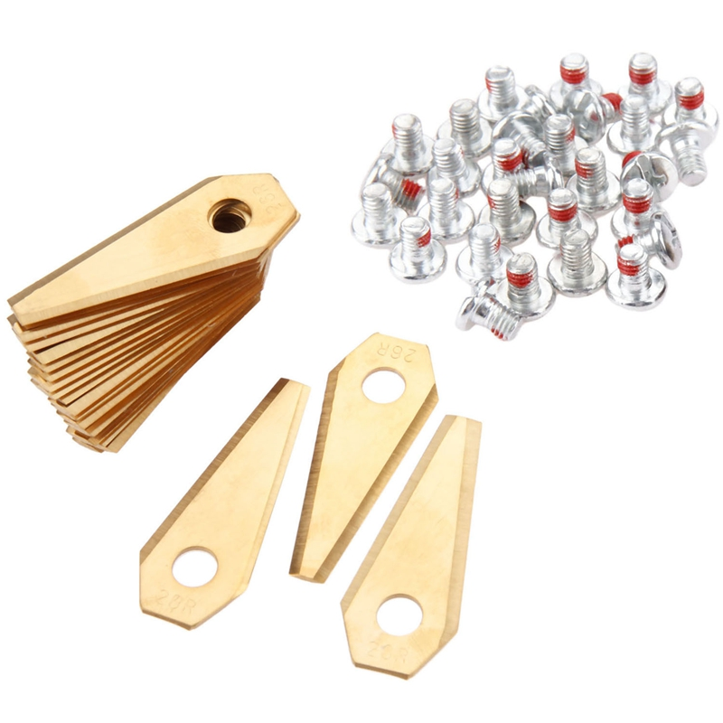 30Pcs Golden Robot Mower Replacement Blade Suitable For Indego Mower Blade With Screw Trimmer Accessories Garden Tools