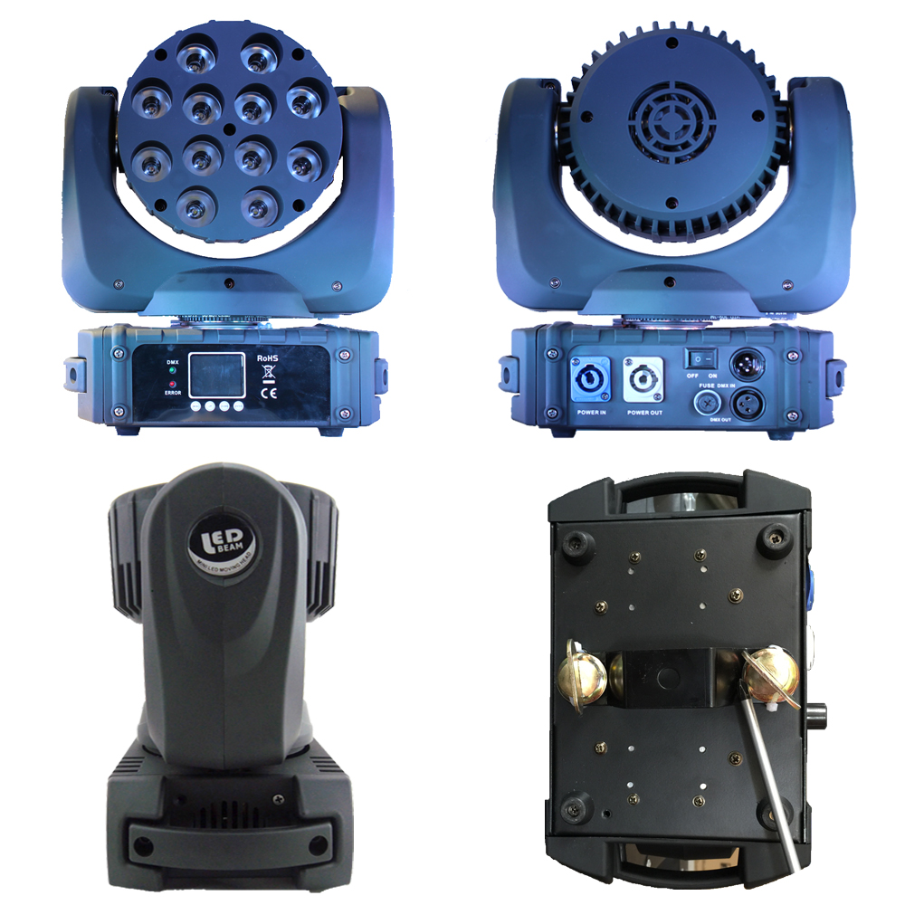 Beam Led Moving Head 12x12w Rgbw Quad Light Professional Hot Sale Led Beam Moving Head 12x12w Light