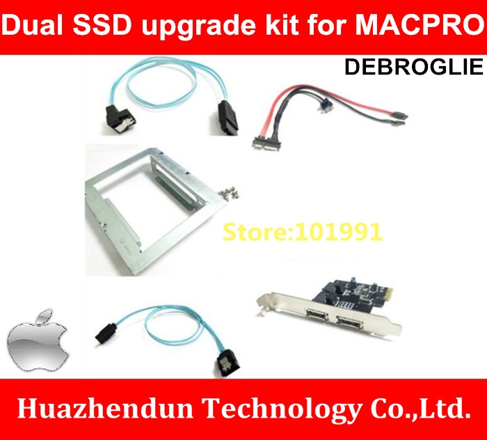 NEW Arrivals Dual SSD upgrade kit for MACPRO with Dual Bracket-Expansion card-Combination Cable Upgrade Combination Set Series