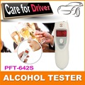 Free shipping 1pc/lot with retail package by CPAM LCD alcohol tester breathalyzer Alcohol Detector with red flashlights