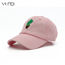 YIFEI  Autumn Women's Cap Snapback Cactus Embroidery Dad Hat Men's Summer Baseball Caps Hip Hop Hats For Girls Casquette Homme