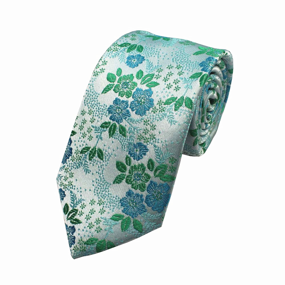 GUSLESON Silk tie for Men Colorful Floral drape Corbatas Hombre 7cm Gravata Slim Tie Formal Acara Acara Perkahwinan Tie Wedding