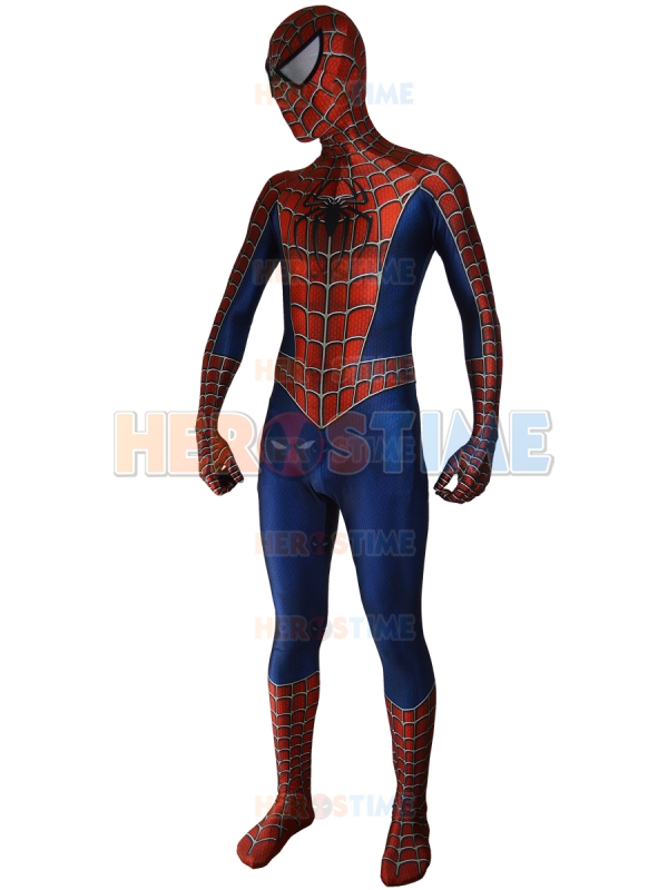 Raimi Spiderman Costume 3D Printed Spandex Halloween And Cosplay Party Fullbody Spider man Superhero Costume Free Shipping    3
