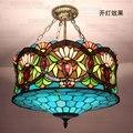 18 дюймов Tiffany Европейская люстра витражное стекло синий Дунай старший клуб вилла столовая ресторан лампа