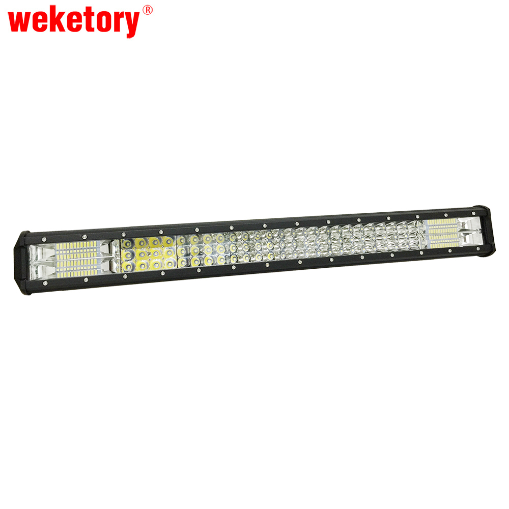 weketory 3 Rows 26 inch LED Work Light Bar for Tractor Boat OffRoad 4WD 4x4 Truck