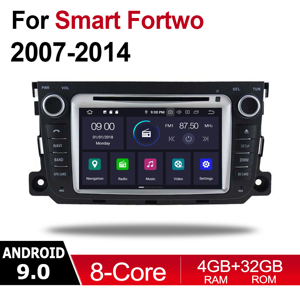 Android Car Multimedia player 2 Din WIFI GPS Navigation Autoradio For Smart Fortwo 2007~2014 NTG touch screen Bluetooth WIFI SD